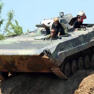 Unser Angstberg wartet auf mutige Panzer-Piloten.