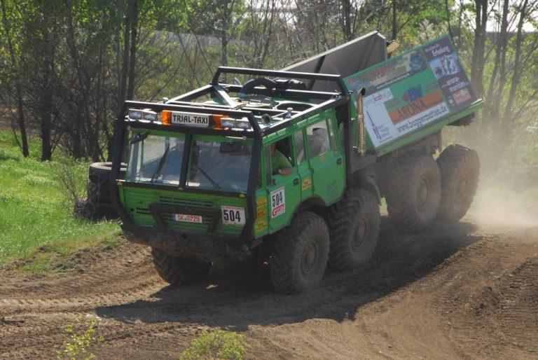 Richtig Gas geben - auch das geht mit dem Tatra Trial Truck.