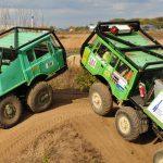 Mehrere Tatra Trial Trucks stehen für die Erlebnisfahrt bereit.